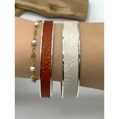 Associassion de deux bracelet de 2 largeurs différentes